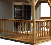 Porch Railings, Balusters, and Decking